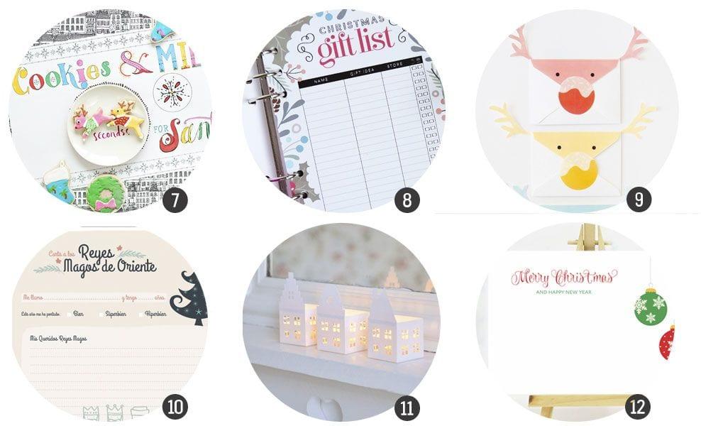 Imprimibles: 18 recursos inspirados en la Navidad