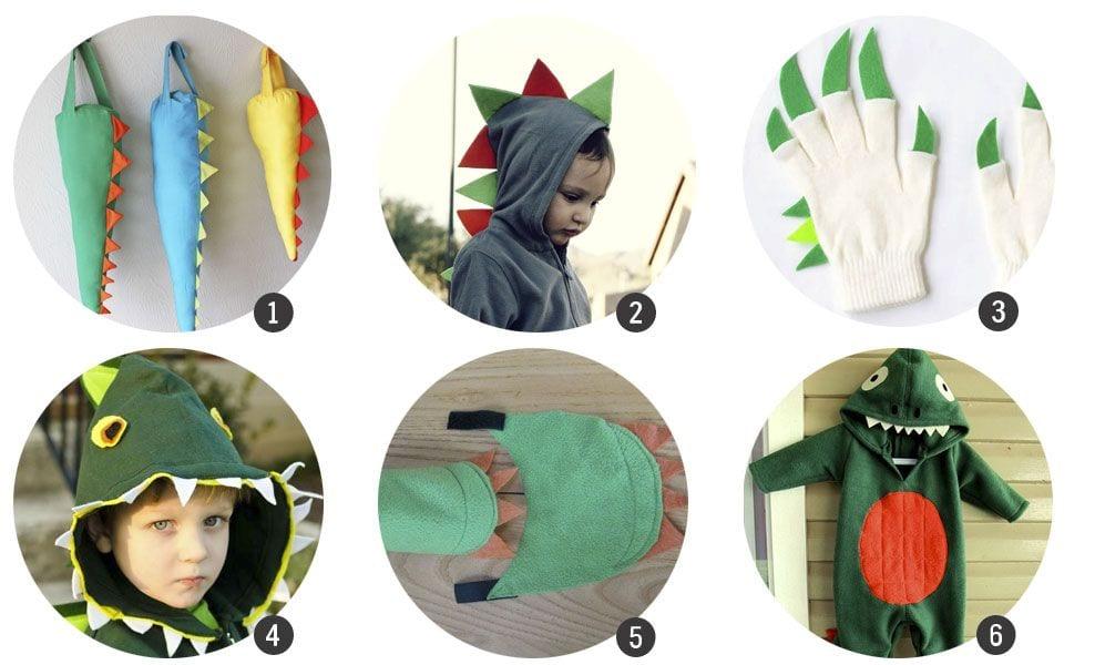 DIY Disfraz infantil de dinosaurio