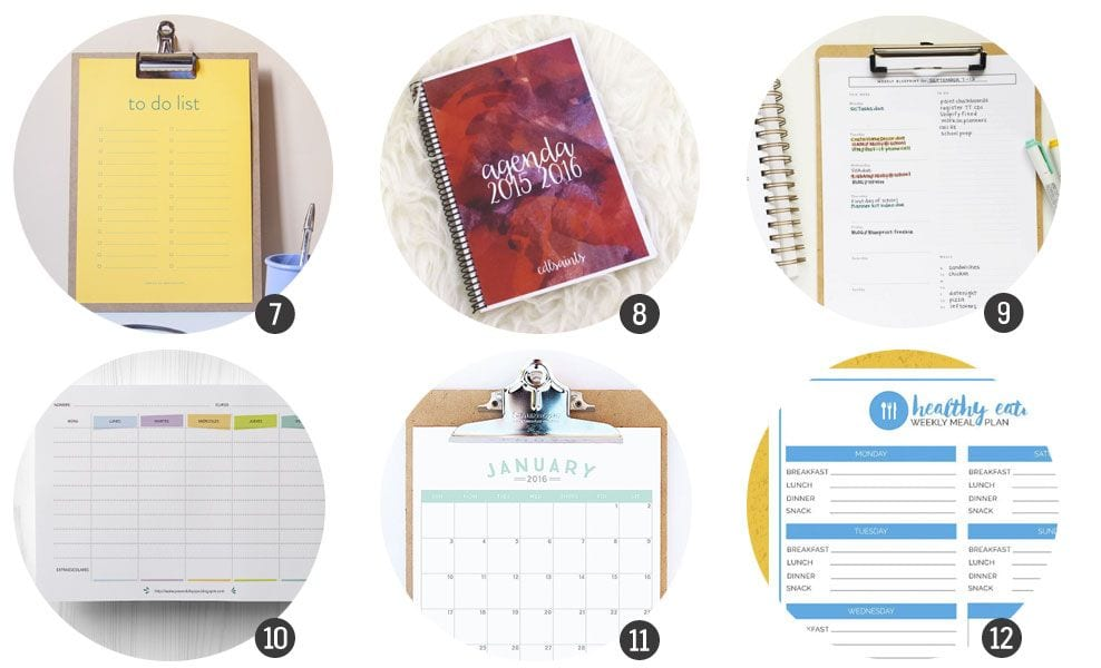 Organiza tu 2016: agendas y planificadores para imprimir