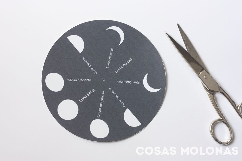 Manualidades para niños / Las fases de la luna (+ imprimible ...