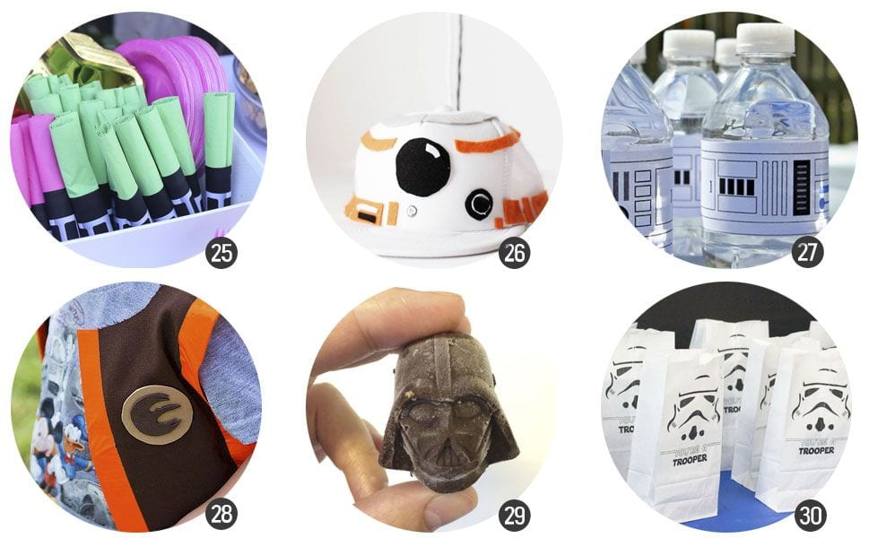 30 recursos para celebrar una fiesta temática de Star Wars