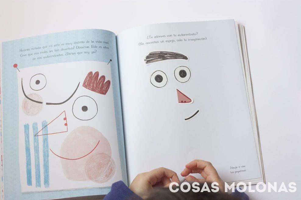 Interior del libro Eres un artista de Marta Altés