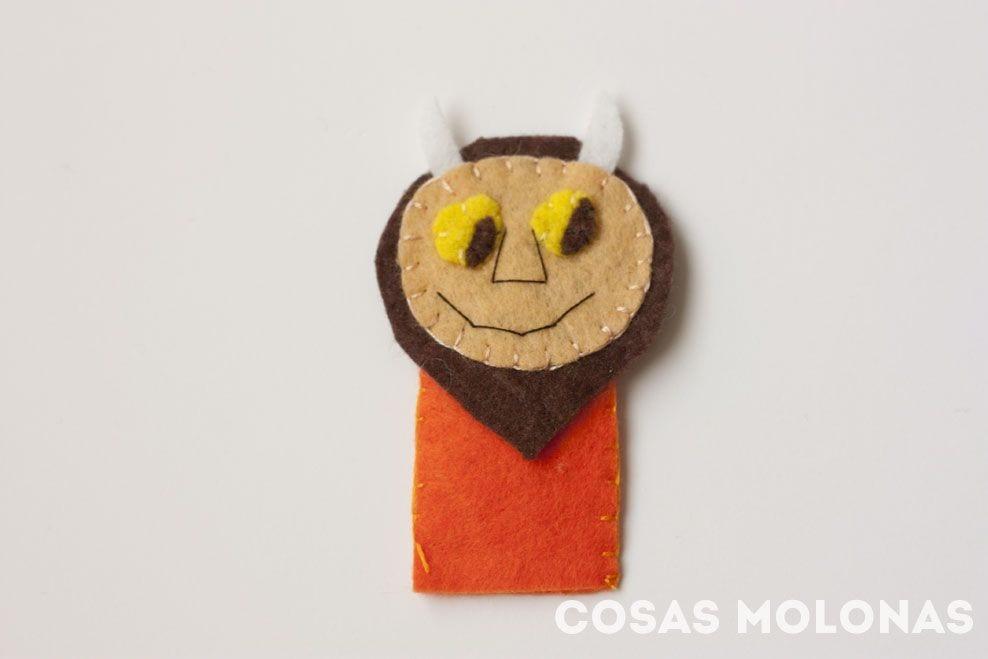 """DIY / Marionetas de dedo """"Donde viven los monstruos"""""""