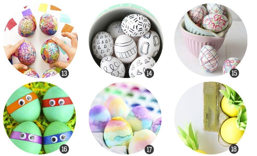 18 DIY para decorar huevos de Pascua en www.cosasmolonas.com
