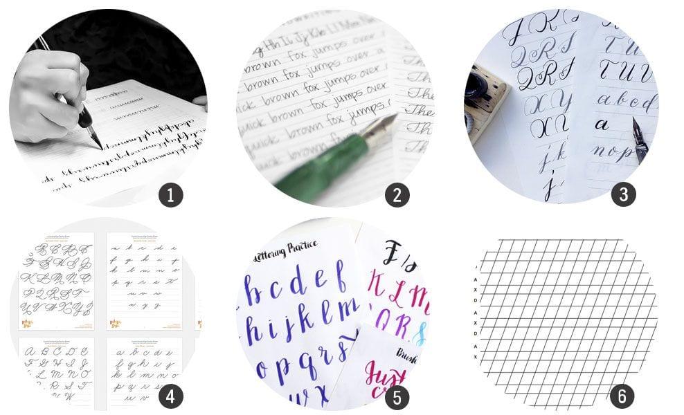Plantillas gratis para practicar caligrafía | Cosas Molonas | DIY Blog