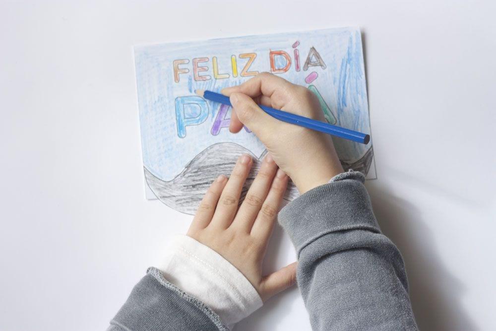 Manualidades para niños / Tarjeta para colorear para el Día del padre