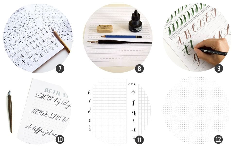 plantillas para practicar caligrafía