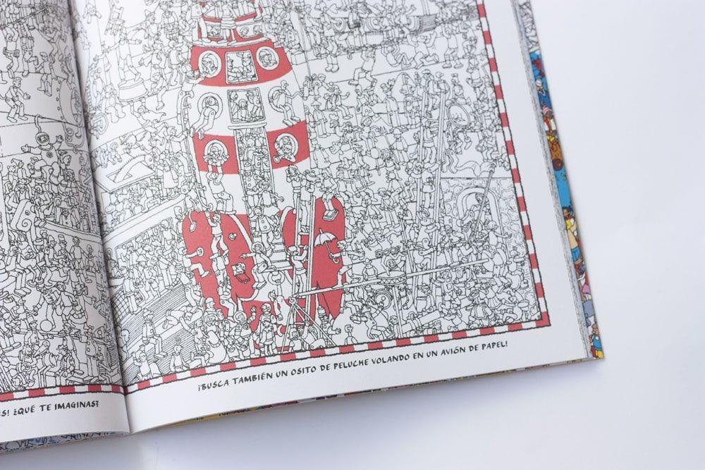 Libro para colorear ¿Dónde está Wally? en www.cosasmolonas.com