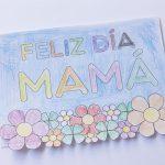 Tarjeta para colorear para el Día de la madre