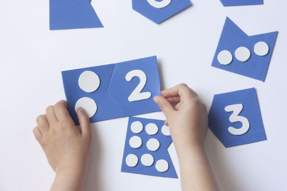 Aprender jugando: puzzle de números 0 a 9