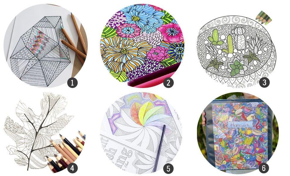 18 láminas de colorear imprimibles para adultos
