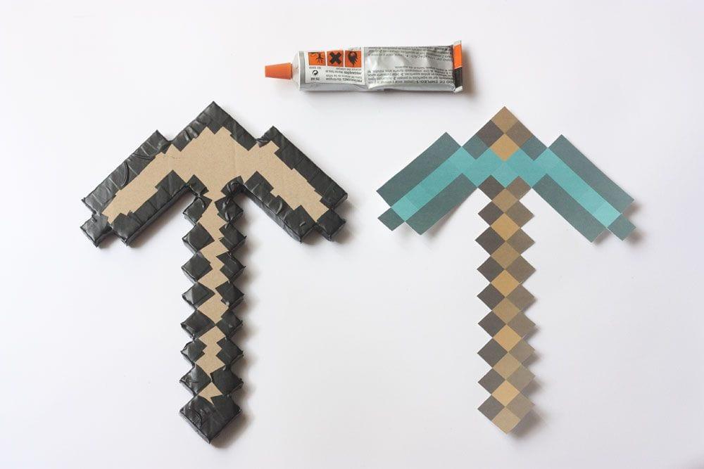 DIY / Pico diamante de Minecraft en www.cosasmolonas.com