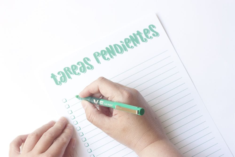 Imprimible: Planificador de tareas + ¡sorteo! (cerrado)