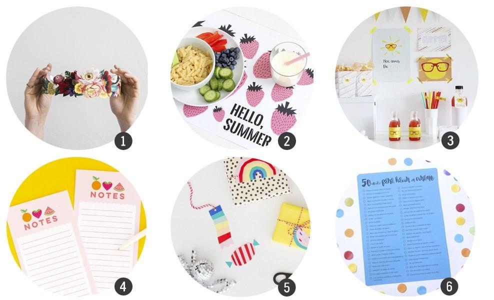 18 imprimibles gratis inspirados en verano | Cosas Molonas | DIY Blog