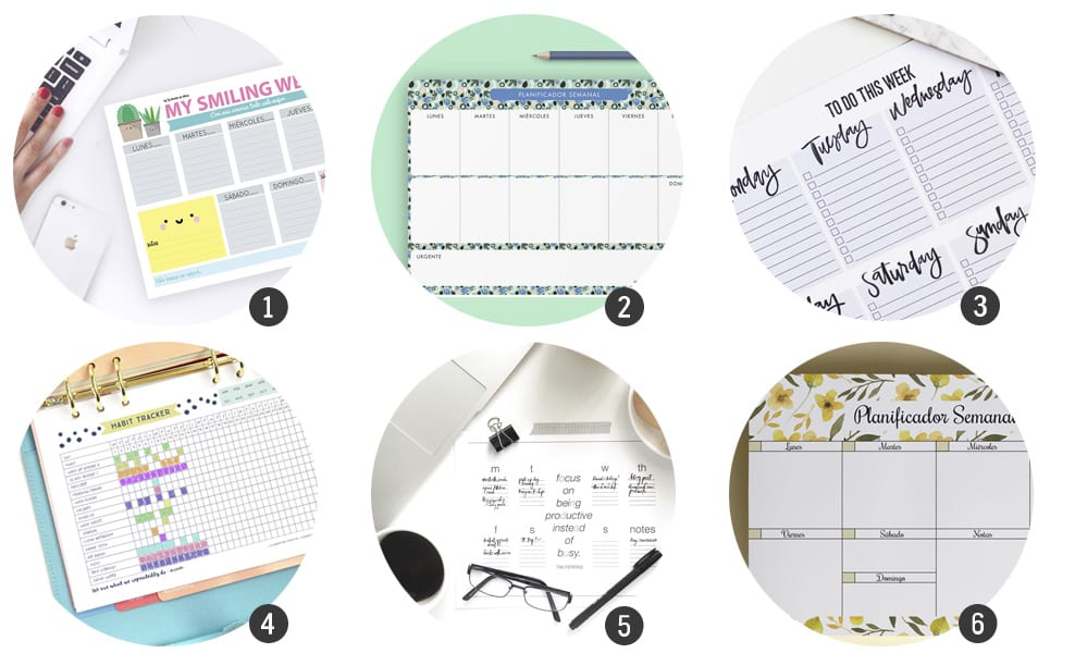 Vuelta al cole* : 18 planificadores gratis para imprimir | Cosas ...