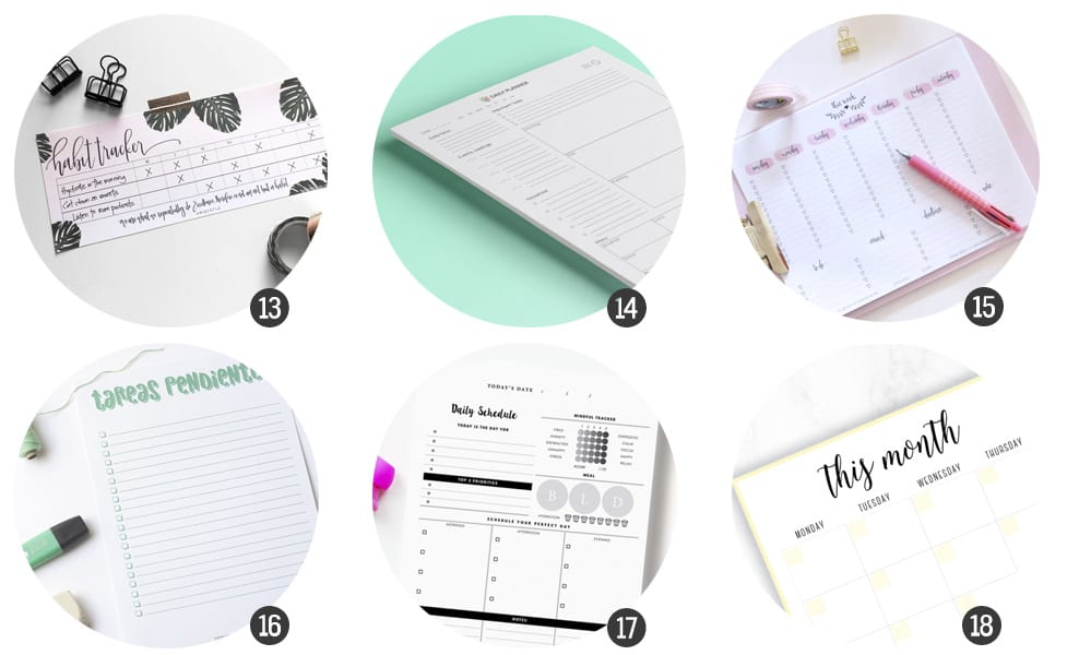 Vuelta al cole : 18 planificadores gratis para imprimir