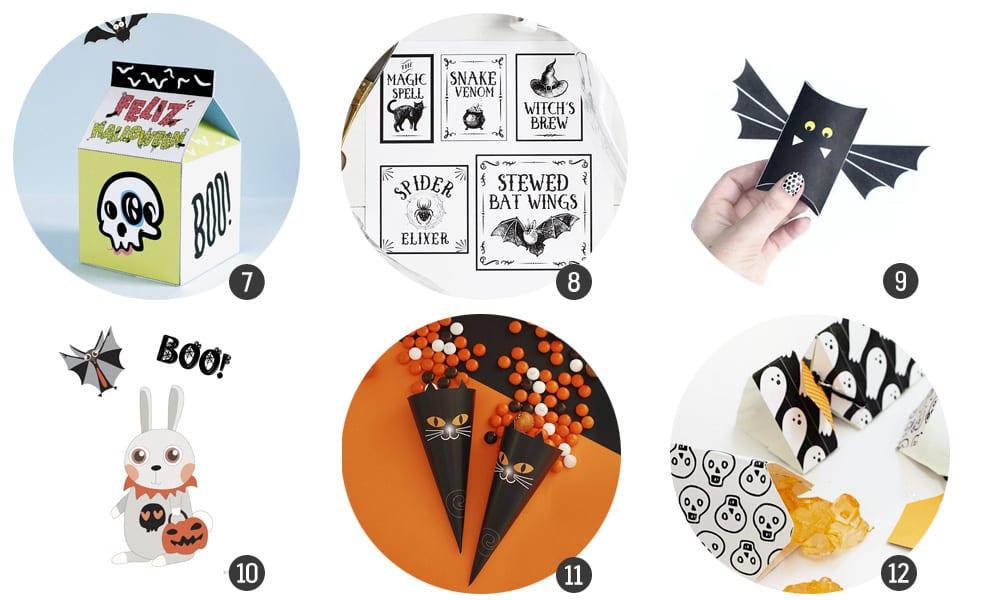18 imprimibles gratis para el próximo Halloween