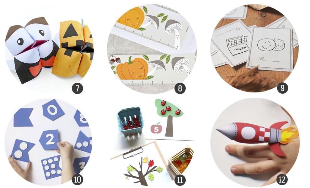 18 imprimibles para aprender jugando en Otoño