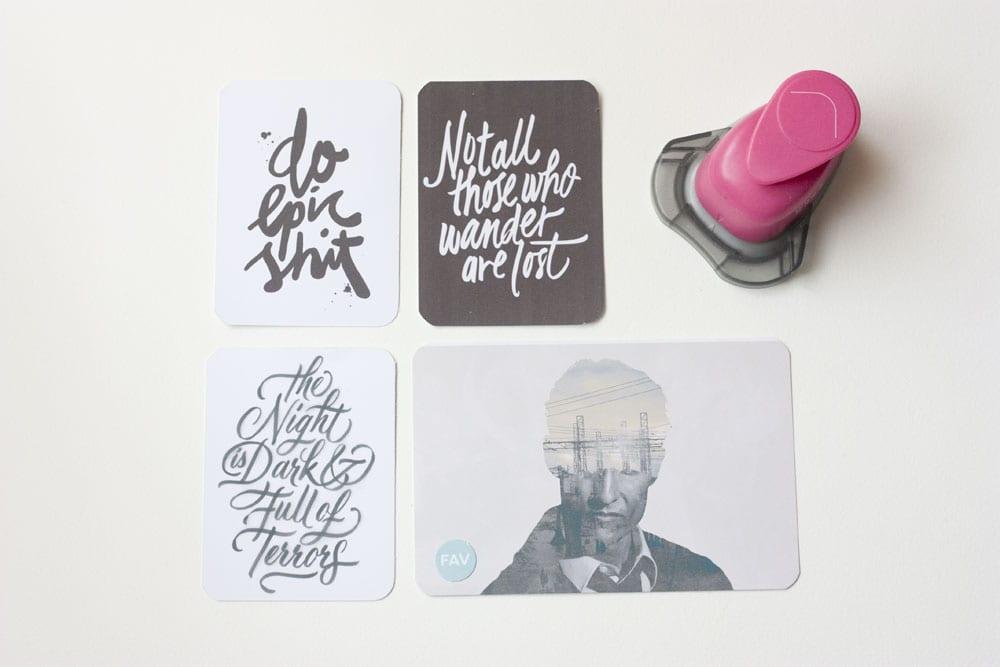 Scrap / Haz tus propias tarjetas de Project Life