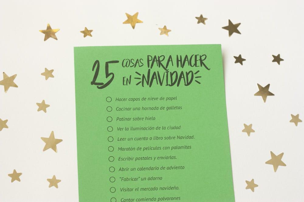 Imprimible 25 cosas para hacer en navidad cosas for Cosas decorativas para navidad