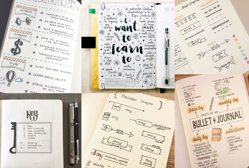 ideas pinterest bullet journal