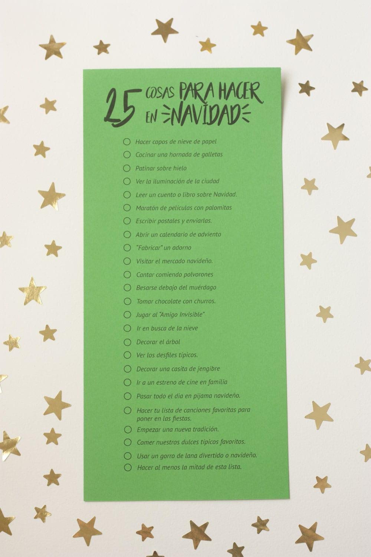 Imprimible 25 cosas para hacer en Navidad Cosas Molonas DIY Blog