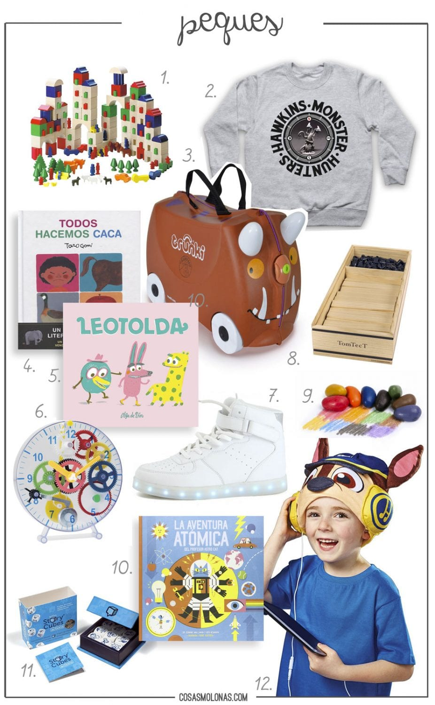 Guía de regalo / Peques en www.cosasmolonas.com