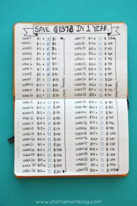 how-to-save-money-bullet-journal