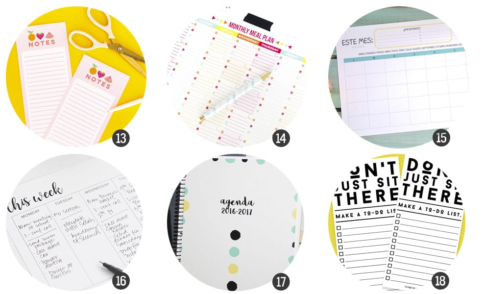 Organiza tu 2017: planificadores para imprimir