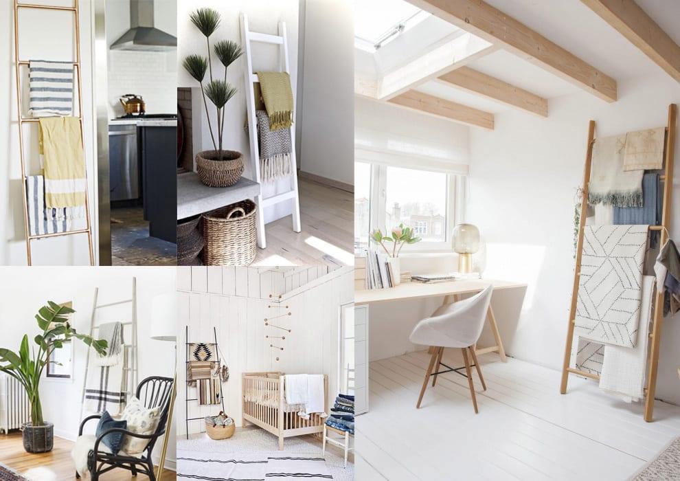 Inspiraci n decoraci n con escaleras de madera cosas for Escaleras de madera para decorar