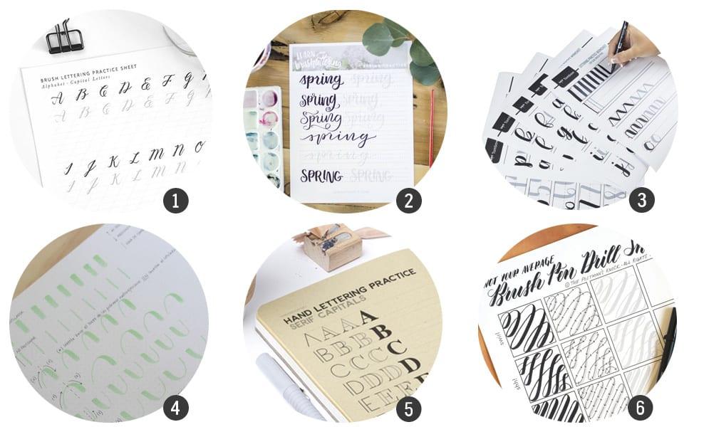 ronda de imprimibles de abecedario de lettering