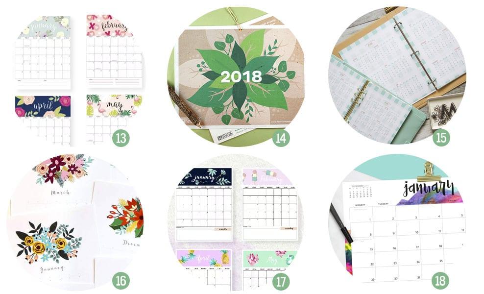calendarios-planificadores-2018-imprimir