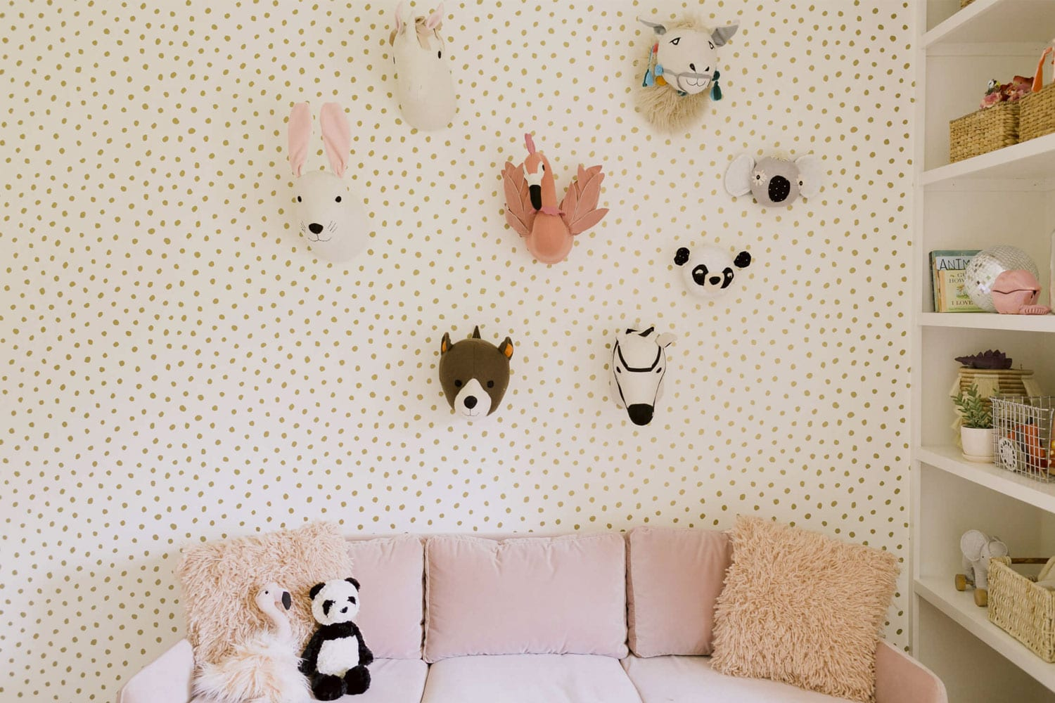 decoración con peluches