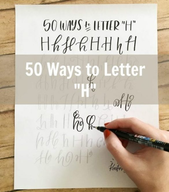 lettering sheet