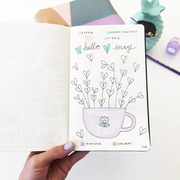 bullet journal estado de ánimo