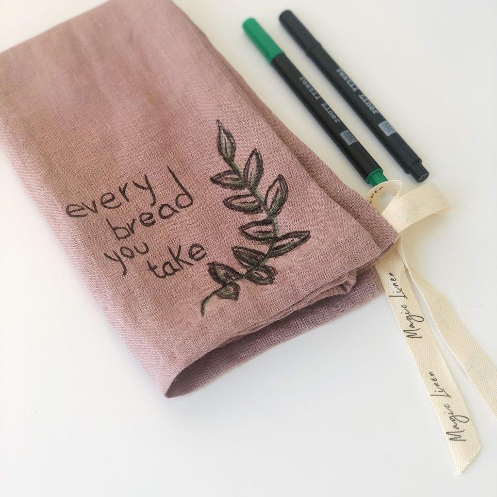 bolsa de lino ecológico