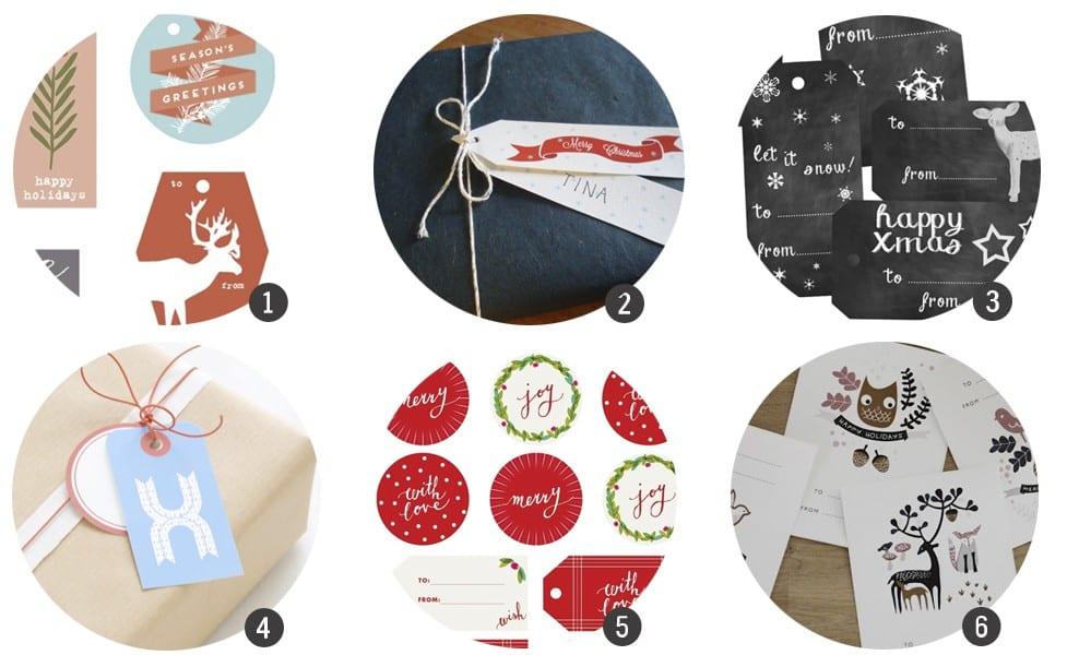 Etiquetas navideñas para imprimir
