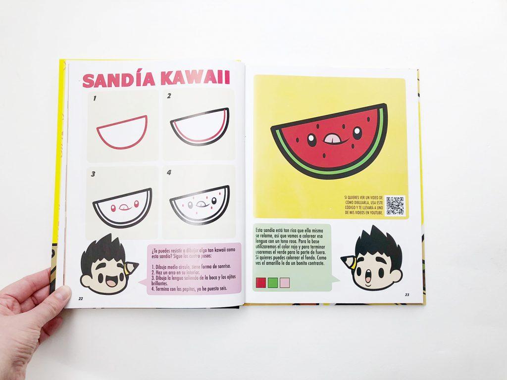 Interior del libro de JAPE: Cómo dibujar kawaii