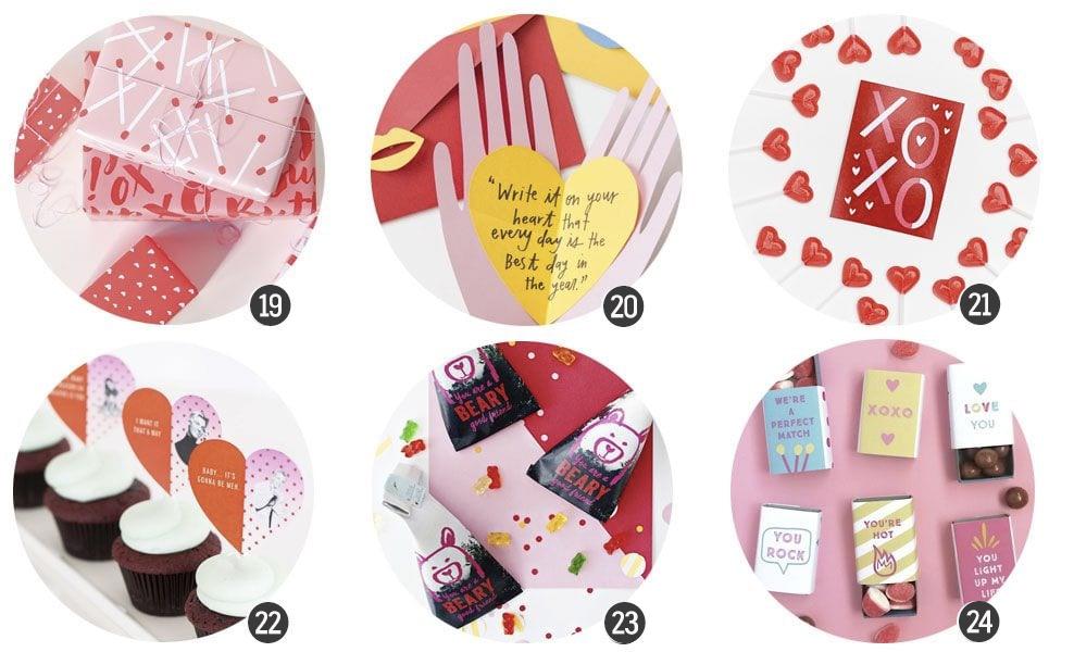 Imprimibles: 18 recursos inspirados en San Valentín