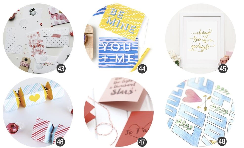 Imprimibles: 24 recursos románticos para San Valentín