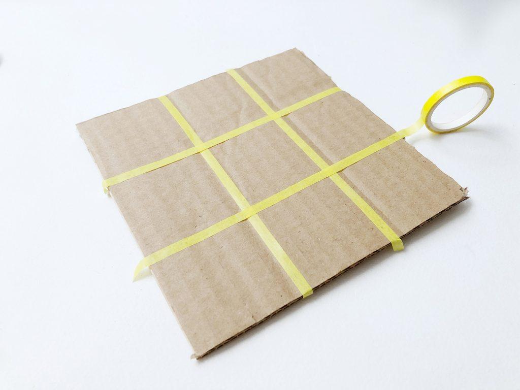 DIY Tres en raya hecho a mano con cartón