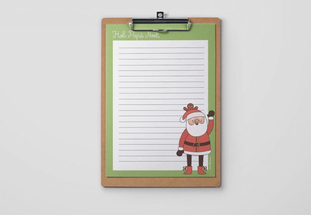 Carta de Papá Noel para imprimir. Versión Holi Papá Noel.
